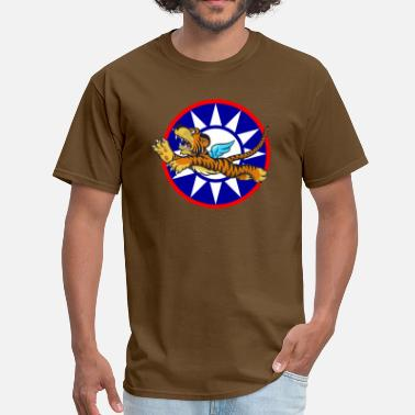 Flying Tigers WWII Flying Tiger with Republic of China Star - Men's T-Shirt