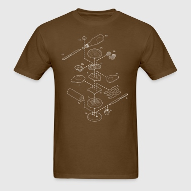 Exploded View Burger T-Shirt - Men's T-Shirt