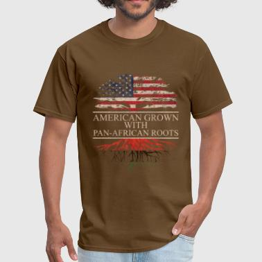 Pan-african American grown with pan african roots - Men's T-Shirt