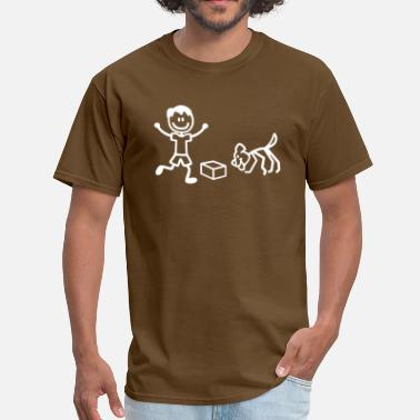 Nosework Nosework Dog and Handler in Stick Figures - Men's T-Shirt