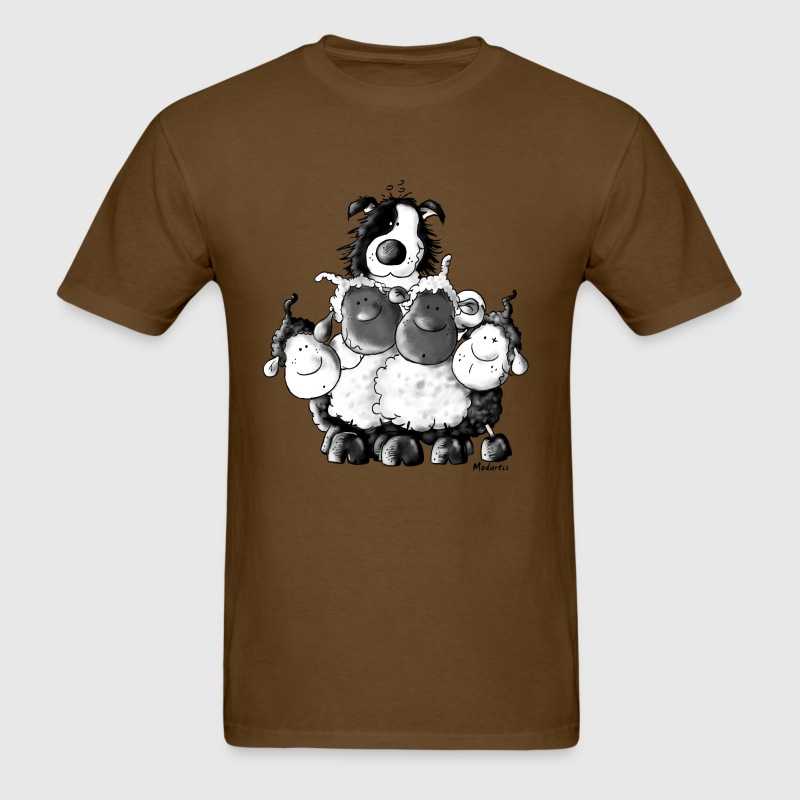 Border Collie and sheep - dog  - Men's T-Shirt