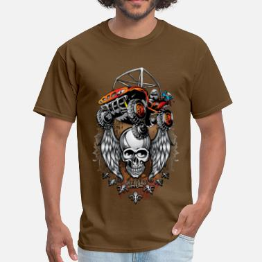 Utv Enduro Red UTV Skull Shirt - Men's T-Shirt
