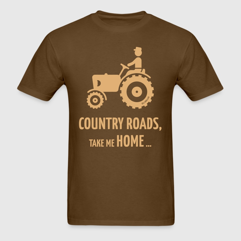 Country Roads, Take Me Home … (Farmer / Tractor) - Men's T-Shirt