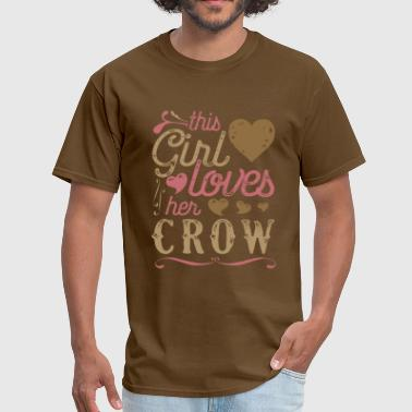 This Girl Loves Her Crow - Men's T-Shirt