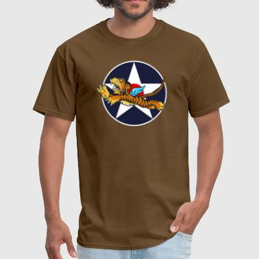 Tiger Army WWII Flying Tiger with Army Air Corps Star - Men's T-Shirt