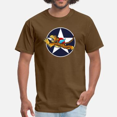 Flying Tigers WWII Flying Tiger with Army Air Corps Star - Men's T-Shirt