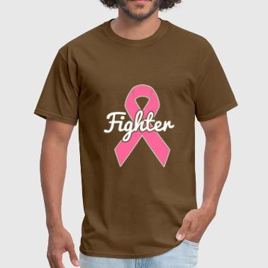 Breast Cancer Pink Ribbon Fighter - Men's T-Shirt