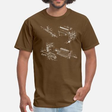 Gun Diagram AR15/M16 Exploded Diagram - Men's T-Shirt