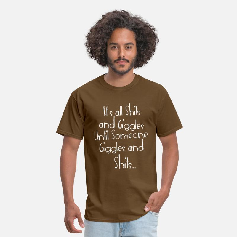People T-Shirts - Shits and Giggles - Men's T-Shirt brown