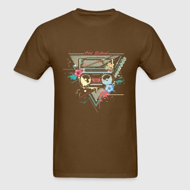 Ghettoblaster retro graffiti - Men's T-Shirt