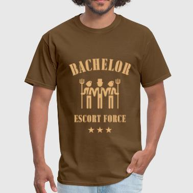 Sayings Stag Night Party Bachelor Escort Force (Stag Party) - Men's T-Shirt