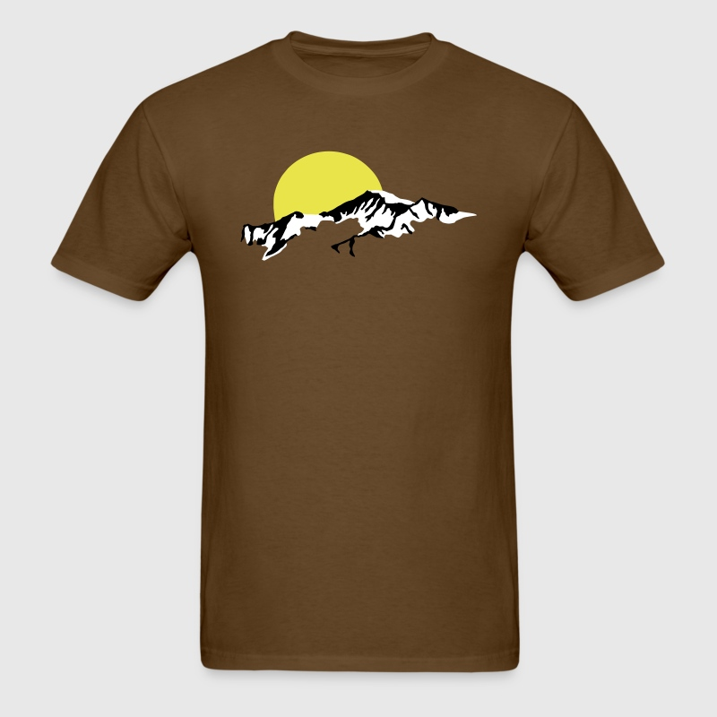 Mountains Sun Set sunset - Men's T-Shirt