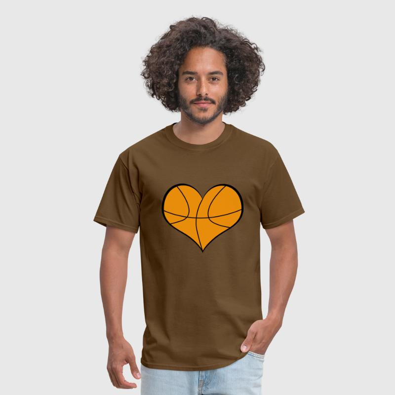 basketball heart - Men's T-Shirt
