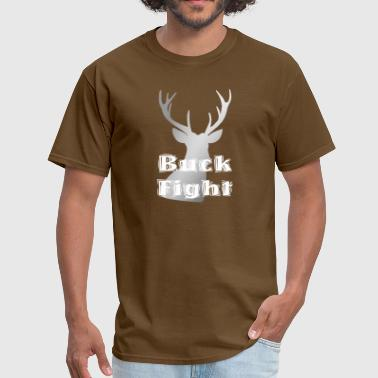 Animated Attitude Love Buck Fight Hunting - Men's T-Shirt