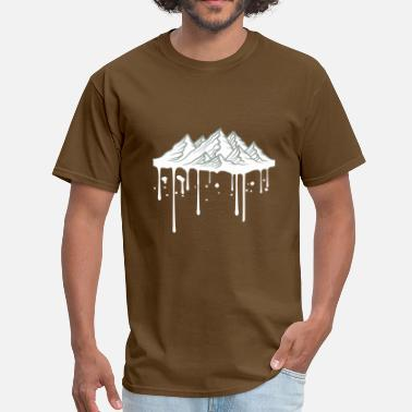 Graffiti Spray drop graffiti spray wet melting mountains hills al - Men's T-Shirt