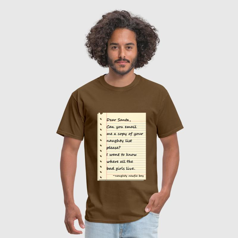 Dear santa letter from a naughty newfie boy by newfucious spreadshirt dear santa letter from a naughty newfie boy mens t shirt spiritdancerdesigns Gallery
