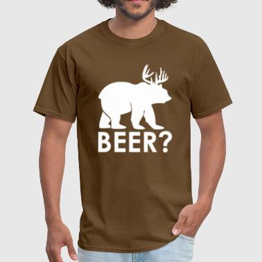 SS-1100 Beer Deer White - Men's T-Shirt