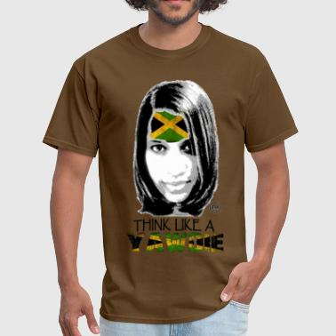 Jamaican Lady Think Like A Yawdie - Men's T-Shirt