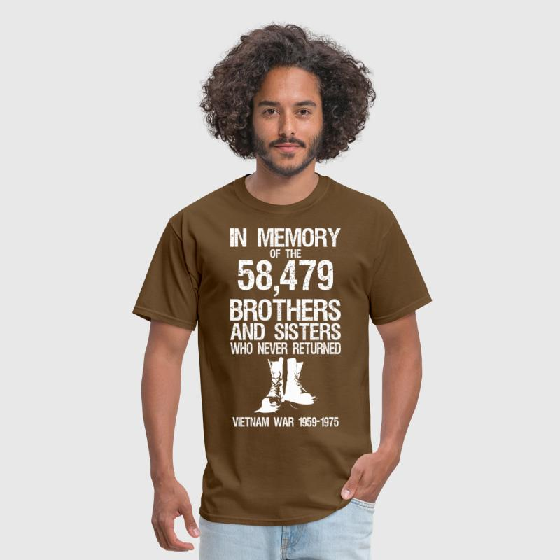 In Memory Of The 58479 Brothers And Sisters  - Men's T-Shirt