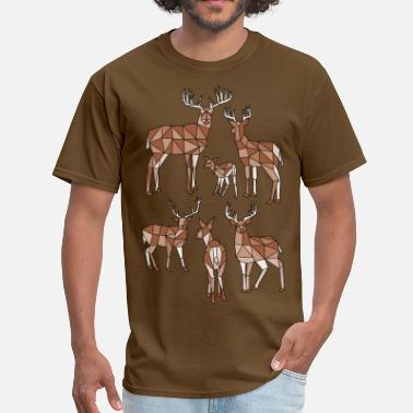 Multiple Personalities Geometric Deer (Multiple) - Men's T-Shirt
