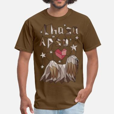 Geometric Lhasa Apso - Men's T-Shirt