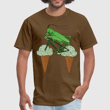 Grasshopper Funny Grasshopper Riding Bike With Grasshopper ice cream - Men's T-Shirt