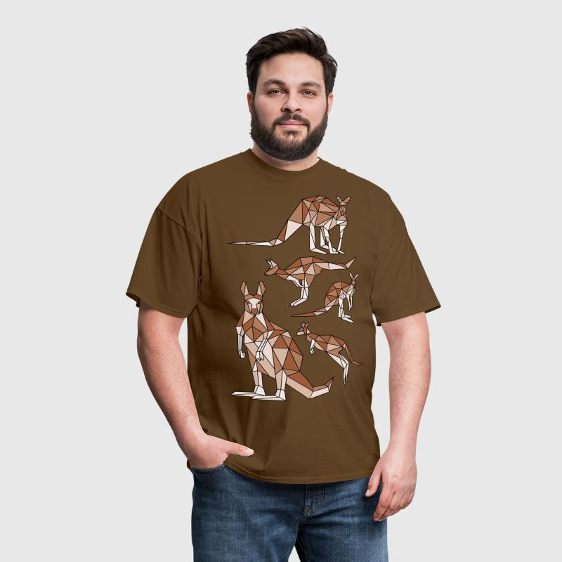 Geometric Kangaroo - Men's T-Shirt