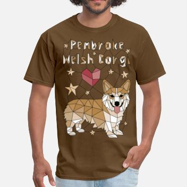 Geometric Pembroke Welsh Corgi - Men's T-Shirt