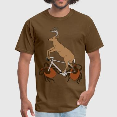 Deer Riding Bike With Deer Tick Wheels - Men's T-Shirt