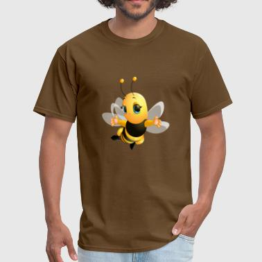 Bee Smile bee insect wings flying smile wildlife - Men's T-Shirt