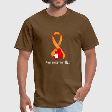 orange ribbon cancer FIGHT BOX GLOVES POWER GIFT - Men's T-Shirt