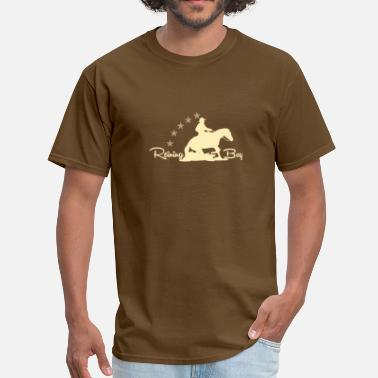 Funny With Horse Motifs Westernriding - Reining Boy - Men's T-Shirt
