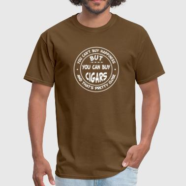 You Can't Buy Happiness, But You Can Buy Cigars! - Men's T-Shirt