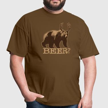 BEAR + DEER = BEER T-Shirt - Men's T-Shirt