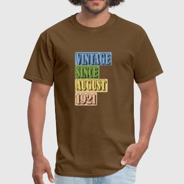 AUGUST SINCE 1921 VINTAGE - Men's T-Shirt