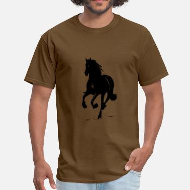 Stallion black horse running - Men's T-Shirt
