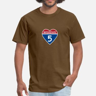 5 Five Heart I Heart Interstate 5 - Men's T-Shirt