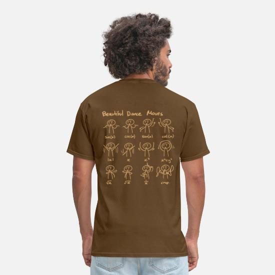 Mathematics T-Shirts - Maths_mathematics_beautiful_dance_moves - Men's T-Shirt brown