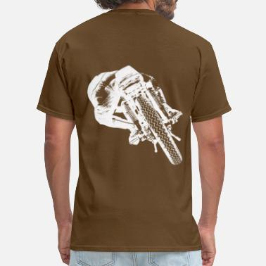 Rearing Motorcycle Cafe Racer rear view - Men's T-Shirt
