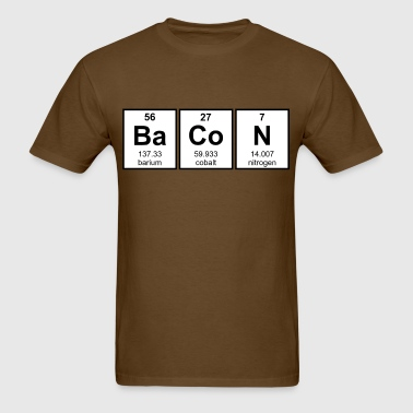 Shop periodic symbol t shirts online spreadshirt bacon periodic table element symbols men39s t shirt urtaz Images