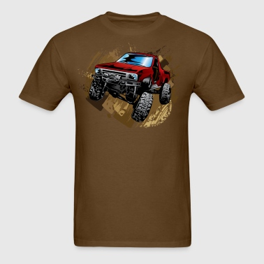 Muddy Red Truck - Men's T-Shirt
