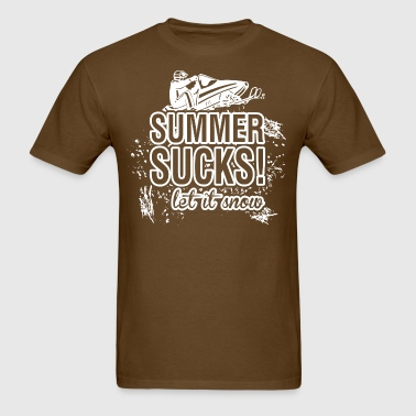 Snowmobile Summer Sucks Let It Snow - Men's T-Shirt