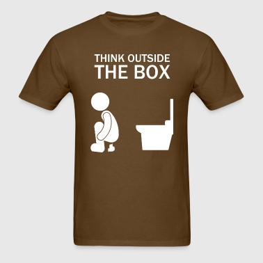 think_outside_the_box_funny - Men's T-Shirt