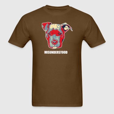 Pitbull Dog designs - Men's T-Shirt
