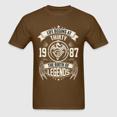 The Birth of Legends 1987 - Men's T-Shirt