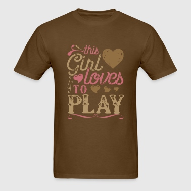 This Girl Loves To Play Gaming Gamer - Men's T-Shirt