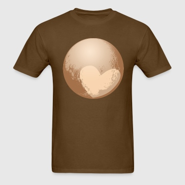 Cute Heart Pluto - Men's T-Shirt