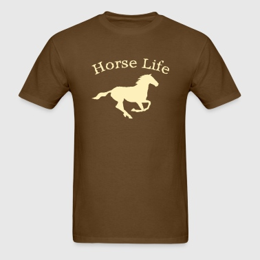 Horse Life with running horse - Men's T-Shirt