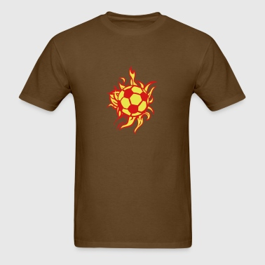 flame soccer ball 1 - Men's T-Shirt