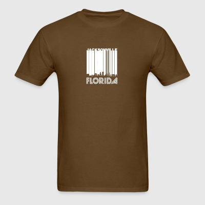 Retro Jacksonville Florida Skyline - Men's T-Shirt
